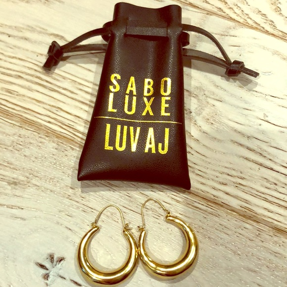 2c1e08f2a Luv Aj Jewelry | Martina Tube Hoops Gold Earrings | Poshmark